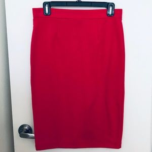 MASSIMO Red/Pink to-the-knee pencil skirt